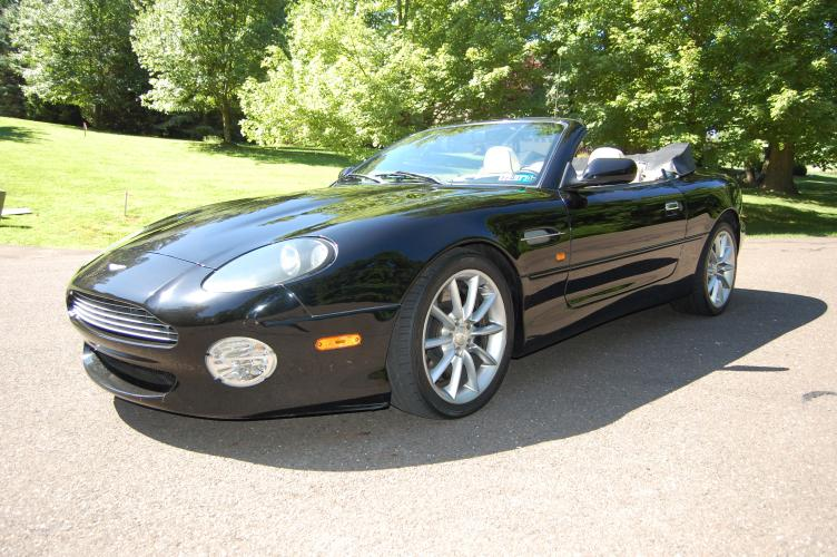 2001 Black Aston Martin DB7 Vantage Volante (SCFAB42301K) with an 5.9L V12 DOHC 48V engine, Automatic transmission, located at 6528 Lower York Road, New Hope, PA, 18938, (215) 862-9555, 40.358707, -74.977882 - Photo #0