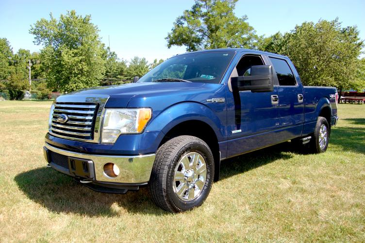 2011 Blue /Grey Cloth Ford F-150 XLT (1FTFW1ET7BF) with an 3.5L V6 engine, 4-Speed Automatic transmission, located at 6528 Lower York Road, New Hope, PA, 18938, (215) 862-9555, 40.358707, -74.977882 - Photo #0