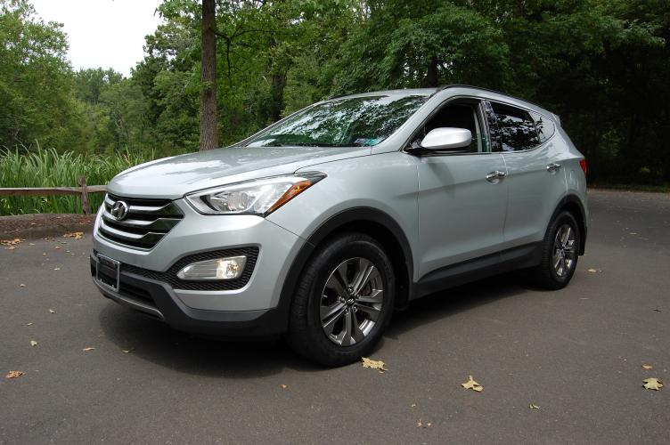 2016 Silver Hyundai Santa Fe Sport 2.4 AWD (5XYZUDLB7GG) with an 2.4L L4 DOHC 16V engine, 6-Speed Automatic transmission, located at 6528 Lower York Road, New Hope, PA, 18938, (215) 862-9555, 40.358707, -74.977882 - Photo #0