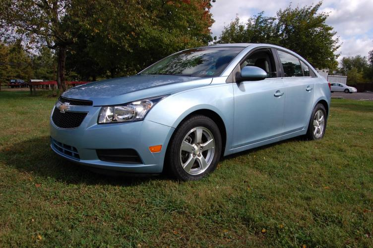 2011 Blue /Grey Cloth Chevrolet Cruze 1LT (1G1PF5S94B7) with an 1.4L L4 DOHC 16V TURBO engine, 6-Speed Manual transmission, located at 6528 Lower York Road, New Hope, PA, 18938, (215) 862-9555, 40.358707, -74.977882 - Photo #0