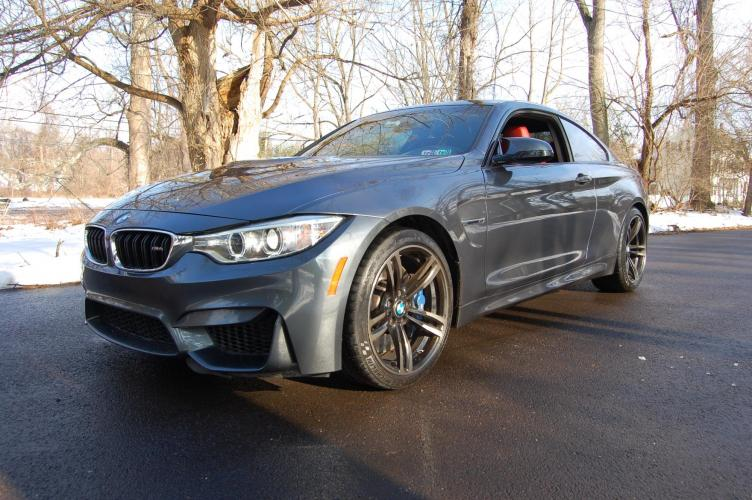 2015 /Red Leather BMW M4 Coupe (WBS3R9C58FK) with an 3.0L L6 DOHC 24V engine, 6-Speed transmission, located at 6528 Lower York Road, New Hope, PA, 18938, (215) 862-9555, 40.358707, -74.977882 - Photo #0
