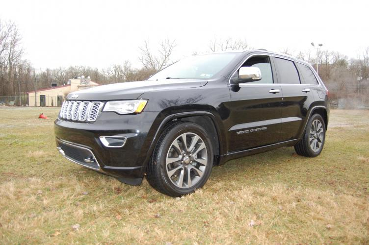 2018 Black /Black leather Jeep Grand Cherokee Overland 4WD (1C4RJFCG2JC) with an 3.6L V6 DOHC 24V engine, 8A transmission, located at 6528 Lower York Road, New Hope, PA, 18938, (215) 862-9555, 40.358707, -74.977882 - Photo #0