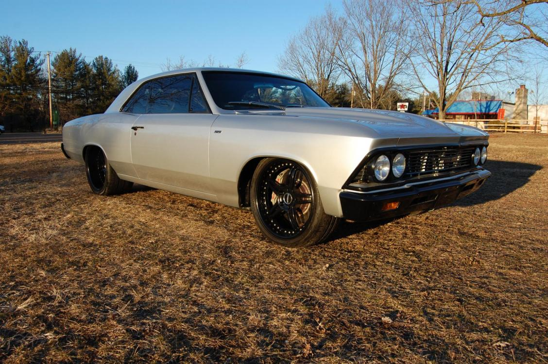 1966 /Black Chevrolet Chevelle (136176K1702) with an Supercharged V8 engine, Automatic transmission, located at 6528 Lower York Road, New Hope, PA, 18938, (215) 862-9555, 40.358707, -74.977882 - Photo #2